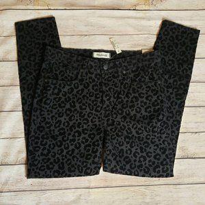 NWT Madewell Leopard Skinny Jeans